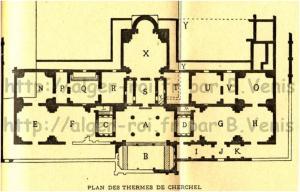 Plan des thermes de l'Ouest de Cherchel