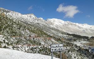 Bouira - Les hauteurs sous un manteau blanc