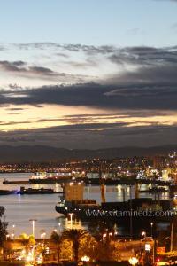 Photo Alger, La nuit, Le port d\'Alger