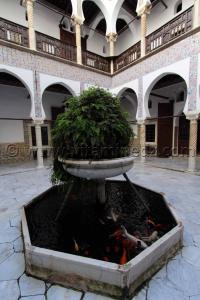 Patio (Wast Eddar) Musée National de l\'enluminure, de la miniature et de la calligraphie au Palais Dar Mustapha Pacha, Casbah, Alger