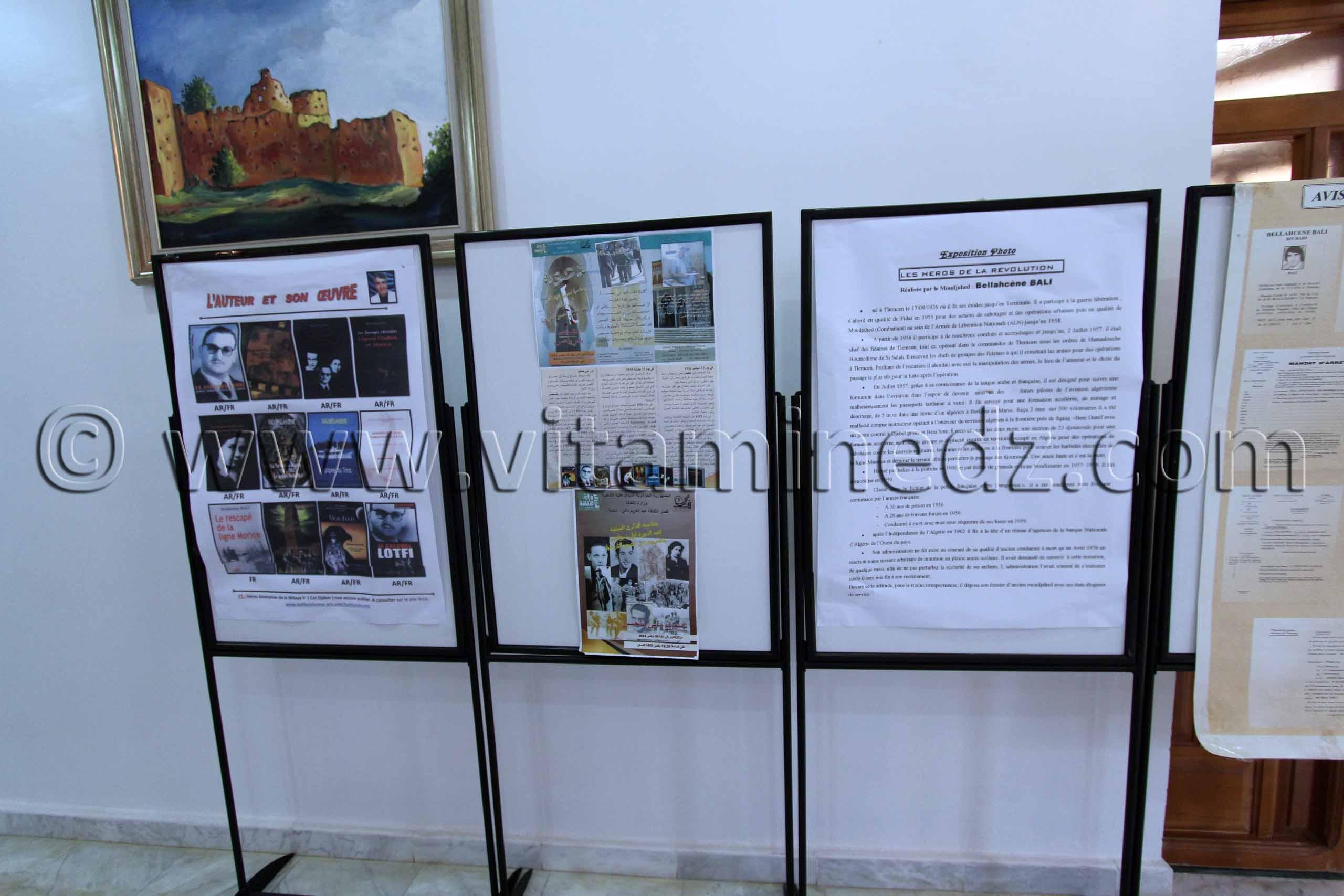 Tlemcen - Exposition de Mr Bali � l\'occasion du 60e anniversaire de la Guerre de Lib�ration