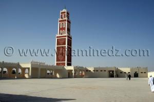 Terrasse de la nouvelle mosquée de la Zaouia de Cheikh Belkbir à Adrar