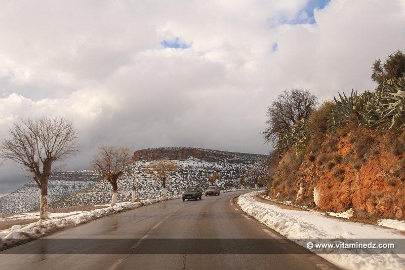 Tlemcen Chutes de neige sur les hauteurs de la Wilaya (Sebdou, Tirni, Beni Smiel)