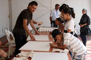 Atelier de dessin pour enfants Tlemcen, le FELIV au palais d\'El Mechouar (25.06.2011)
