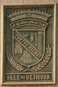 Blason armoirie de Bethioua anciennement Portus Magnus, Vieil Arzew, puis Saint-Leu