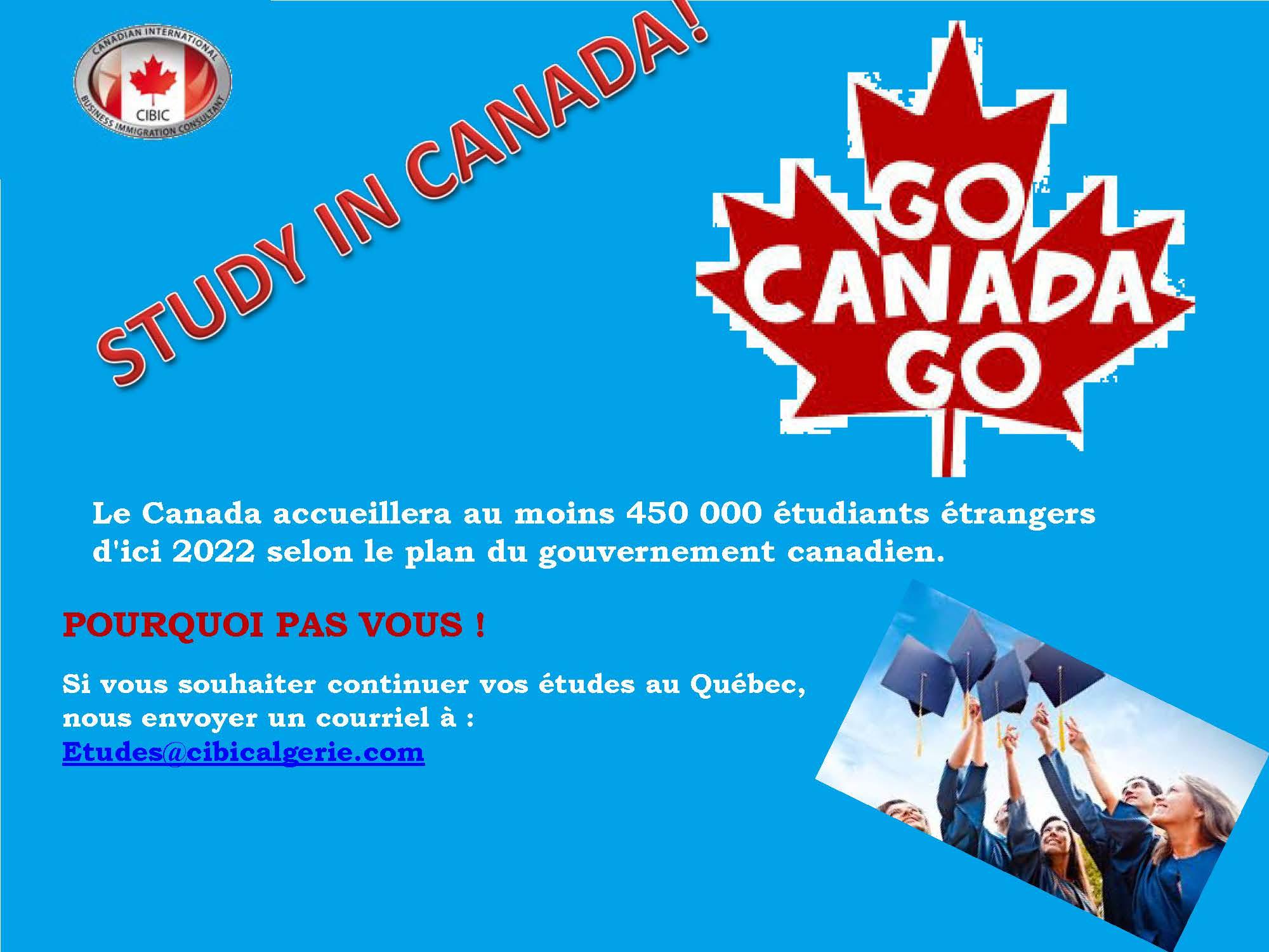 ÉTUDIER AU CANADA