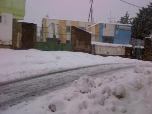 Le village sous la neige - La poste, la mairie et la polyclinique