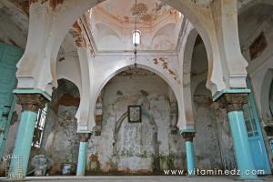 Vue d\'intérieur du Mausolée Sidi Abdelkader Al Jilani (Tlemcen - El Eubbad)