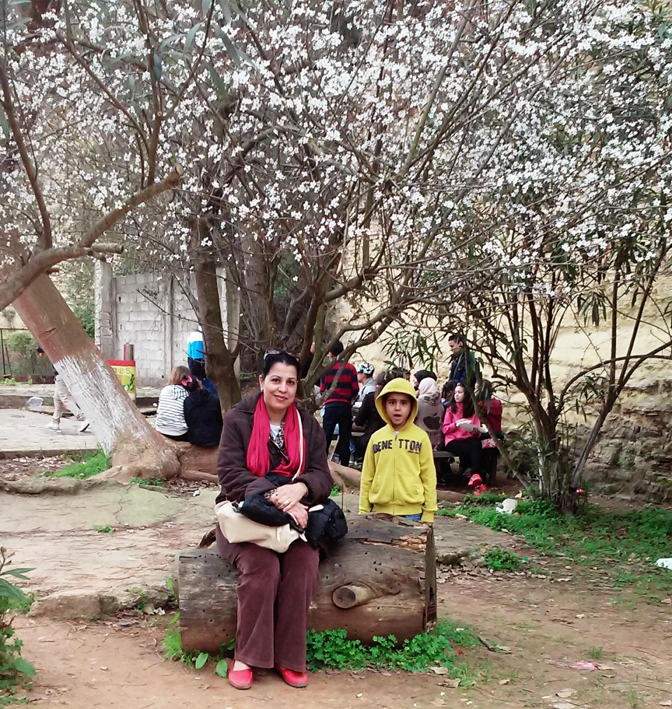 ام ليث وليث في حديقة ابن عكنون