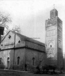 Tlemcen Photo Ancienne - Mosquée (Eglise) du Mechouar supplantée d\'une croix