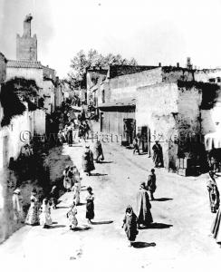 Tlemcen Photo Ancienne - Rue Mascara, mosquée Sidi Senoussi