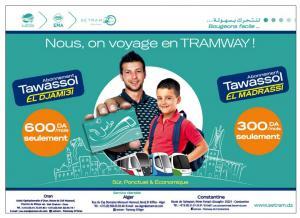 Abonnement Tramway Alger, Oran, Constantine (Tawassol Al Jami3i - Tawassol Al Madrassi)