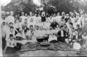 Tlemcen - Musique andalouse - Cheikh Larbi Bensari, photo souvenir