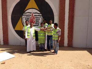 حملة تشجير في برج باجي مختار
