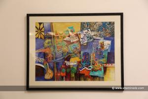 Peinture de Mohamed Skender - Alger - 7e FIAC (Festival international d\'Art Contemporain)