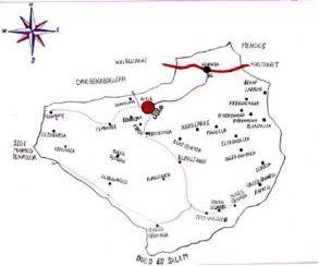 خريطة لبلدية سيدي لزرق