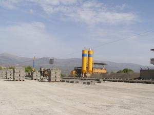 Unit� de production de produits agglom�r�s en b�ton
