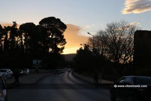 Coucher de soleil sur Mansourah