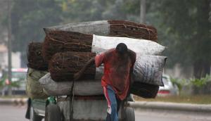 Pri�re d'un pousse-pousseur congolais