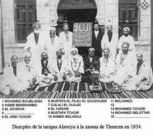 Disciples de la Tariqa El Alawiya de Tlemcen en 1934