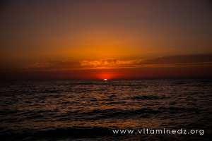 coucher de soleil - Plage de Malousse (W. Ain Temouchent)