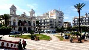 Oran - Th��tre r�gional Abdelkader Alloula: Effondrement partiel d'un balcon