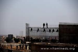 Nouvelle trémie en construction à l'entrée d'El Amria