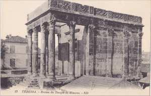 اثار رومانية لمعبد . تبسة .tebessa .ruine de temple minerve