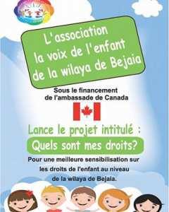 L'association La voix de l'enfant , dans le cadre de son projet Quels sont mes droits ? financé par Canada