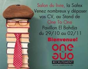 One to One, recrutement présent au SILA pavillon El Bahdja, du 29/10 au 02/11/2016