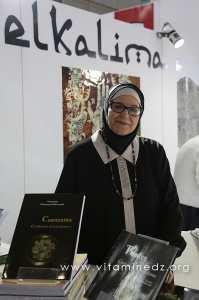 Madame Mansouria Mederreg Belkherroubi au SILA (21e édition) - Stand de l'édition El Kalima