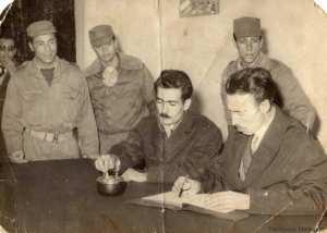 أحمد مدغري مع هواري بومدين