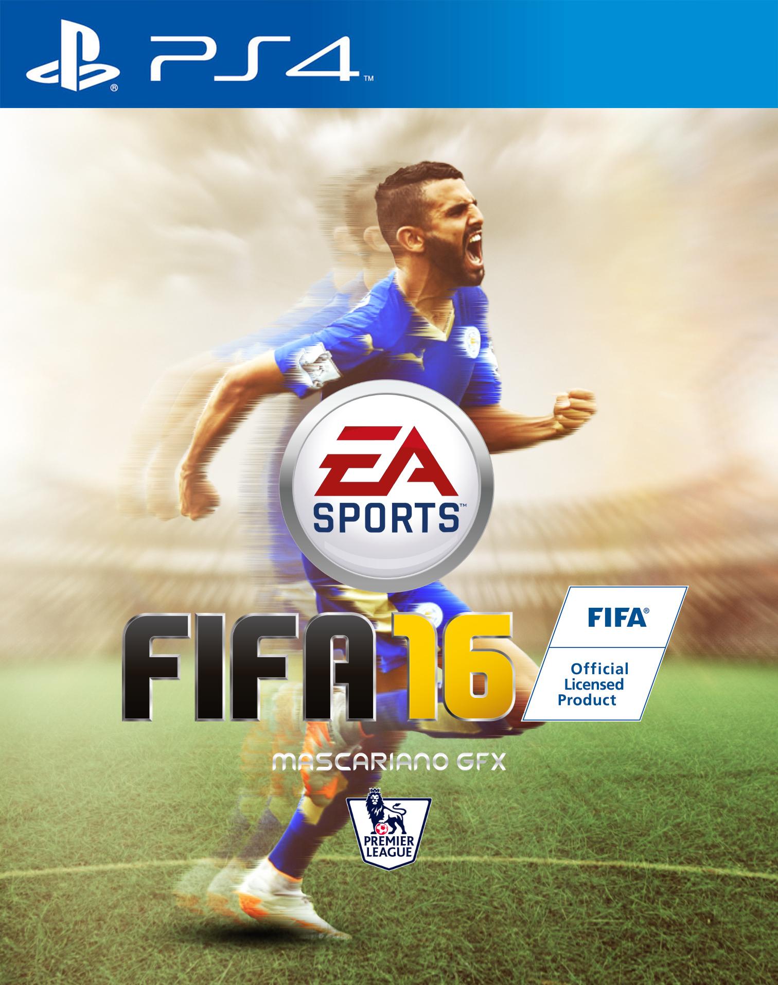 FIFA 16 Cover Riyad Mahrez by Mascariano