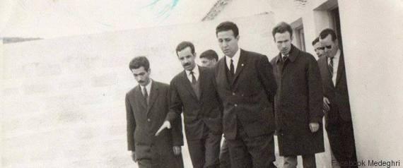 أحمد مدغري مع بن بلة و هواري بومدين كوزير الدفاع