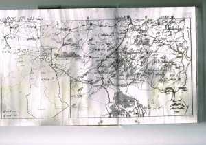خريطة الولاية الاولى الاوراس النمامشة من 1957 الى1962