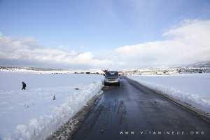 La neige à Tlemcen, Région d'El Mefrouche (Terny Beni Hdiel)