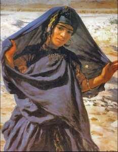 Étienne Dinet - Nasreddine Dinet Fille en Promenade (Sud Algérien)