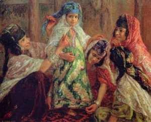 Étienne Dinet - Nasreddine Dinet Un vêtement De fête 1907