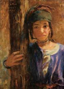 Portrait de Saadia 1894 part Nasreddine Dinet