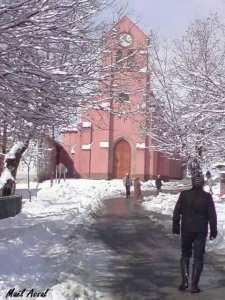 Médéa : Draa-Esmar - Village Lodi sous la neige.