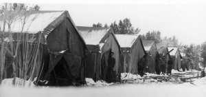 Hiver 1959 - À Frenda sous la neige, réveil surprise - (Pfister Jean-Yves)