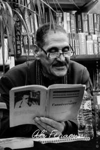 Ali Feraoun, fils de Mouloud Feraoun lisant des extraits du livre de son père : L'anniversaire