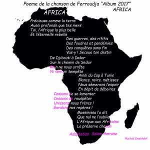 Poème sur l'Afrique du nouveau Album de Ferroudja .