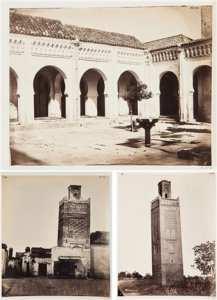Joseph Pedra Title: Monuments arabes de Tlemcen: Minaret d'Agadir, mosquée sidi bel Hassen, cour de la mosquée bel Hassen (5 works) , ca. 1867