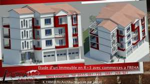 Etude d'un immeuble en R+3  avec commerces