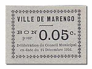 Algérie 1916, Chambre de Commerce de Marengo, 5 Centimes-face