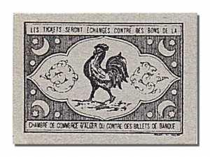 Algérie1916, Chambre de Commerce de Marengo, 5 Centimes-dos
