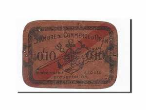 Algeria, Oran, 10 Centimes, 1916 dos