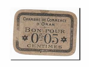Algeria, Oran, 5 Centimes, 1916 face