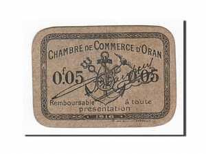 Algeria, Oran, 5 Centimes, 1916 dos
